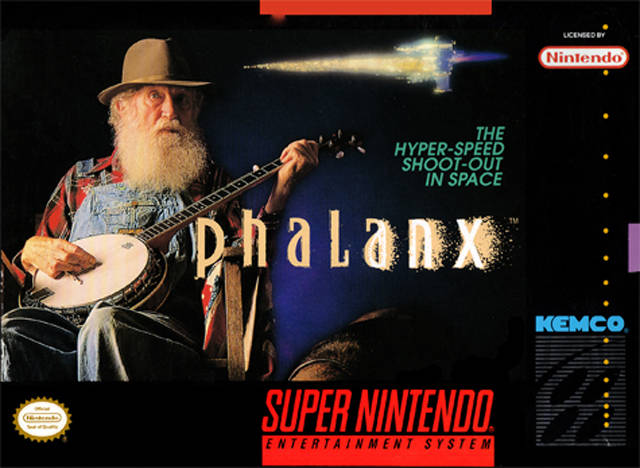 "A Retro Nick twist on an internet favorite, we're gonna throw up bad cover art for games, and you caption it.  To begin it is the 1992 classic (?) ""Phalanx"".  The hyper speed shoot-out in space, which at no point has Uncle Jesse Duke make a cameo…Boooooo!"