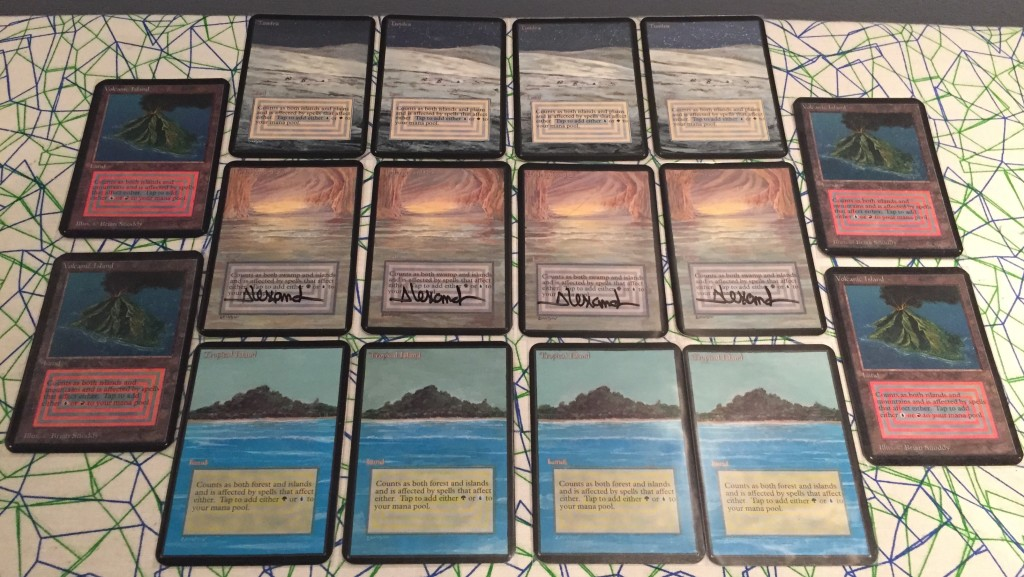 (It also really pisses people off when you tell them that you painted and trimmed Unlimited dual lands – CRY ABOUT IT)